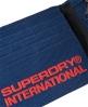 Superdry International三折金属饰钉钱包  海军蓝