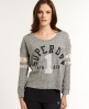 Superdry Gritty Wish Lace Crew Grey