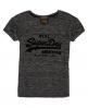 Superdry T-shirt coupe boyfriend slim Vintage Logo  Grey