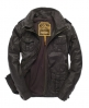 Superdry Brad Leather Jacket Brown