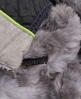 Superdry Antarctic Faux Fur Weste Grau
