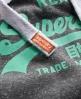 Superdry Vintage Logo Hoodie Dark Grey