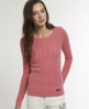 Superdry Croyde Cable Crew  Pink