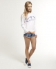Superdry Long Sleeve Burnout Top White