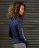 Superdry Sport Twist Hooded Running Top Navy