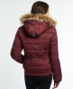 Superdry Cazadora Marl Toggle Puffer Rojo