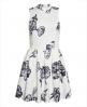 Superdry Premium Scuba kjole Hvit