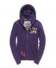 Superdry Blocker Zip Hoodie Purple