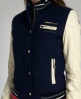 Superdry Smashed Baseball Jacket Navy