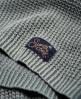 Superdry Waffle Stitch Cold Shoulder Knit Jumper Green
