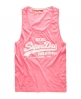 Superdry Vintage Low Arm Vest Pink