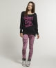 Superdry Blurred Batwing Crew Black