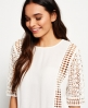 Superdry Diamond Lace Top White