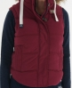 Superdry Hooded University Gilet Red