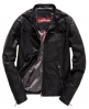 Superdry Real Hero Leather Biker Jacket Black