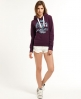 Superdry Athletic Wildcats Hoodie Purple