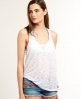 Superdry Super Sewn Burnout Tank Top White