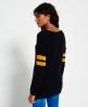 Superdry Pia Varsity Knit Jumper  Navy