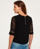 Superdry Analee Lacy Shell Shirt Schwarz