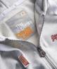 Superdry Orange Label Zip Hoodie Light Grey