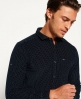 Superdry Premium Cut Away Cord Shirt Navy