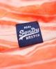 Superdry 基础款轻薄条纹T恤  珊瑚色