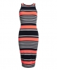 Superdry Starboard Stripe Midi Dress Pink