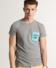 Superdry Grindle Contrast T-shirt Grey