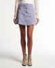 Superdry Corduroy Button Through Skirt Purple