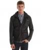 Superdry Brad Leather Jacket Black
