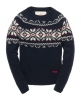 Superdry Rena Fairisle Crew Navy