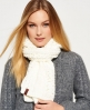 Superdry North Cable Scarf Cream