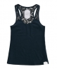 Superdry Lace Loose Vest Navy