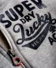 Superdry Lucky Aces Zip Hoodie Grey