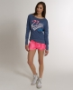 Superdry Burnout Saint T-shirt Blue