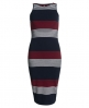 Superdry Starboard Stripe Midi Dress Navy