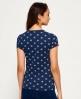 Superdry Classic All Over Print T-Shirt Marineblau