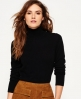 Superdry Luxe Skinny High Neck Knit Jumper Black
