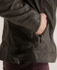 Superdry Ryan Leather Jacket Dark Grey