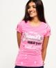 Superdry Premium Goods Doodle T-Shirt Pink