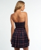 Superdry Savannah Prom Plaid Kleid Marineblau