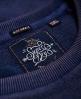 Superdry 贴布绣插肩袖圆领运动衫  蓝色