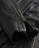 Superdry Shrunken Leather Biker Jacket Black
