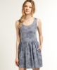 Superdry Stitch Skater Dress Blue