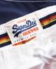Superdry Short de surf à rayures Cali Bleu