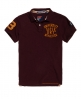 Superdry Classic Short Sleeved Superstate Polo Shirt  Purple
