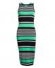 Superdry Starboard Stripe Midikleid Grün