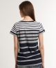 Superdry Block Stripe T-shirt Navy