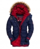 Superdry Parka con capucha Dark Elements Marino