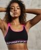 Superdry Soutien-gorge sport à empiècement Gym Noir